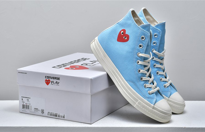 Comme des Garcons Play Converse Chuck Taylor All Star 70 High Blue 168300C 03