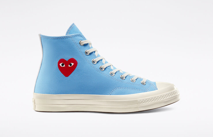 Comme des Garcons Play Converse Chuck Taylor All Star 70 High Blue 168300C 06
