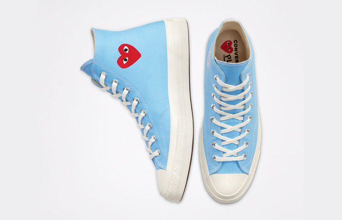 Comme des Garcons Play Converse Chuck Taylor All Star 70 High Blue 168300C 07