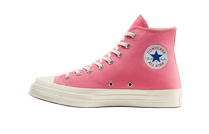 Comme des Garcons Play Converse Chuck Taylor All Star 70 High Pink 168301C 01