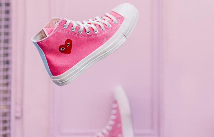Comme des Garcons Play Converse Chuck Taylor All Star 70 High Pink 168301C 02