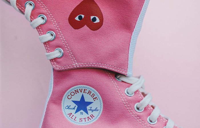 Comme des Garcons Play Converse Chuck Taylor All Star 70 High Pink 168301C 03