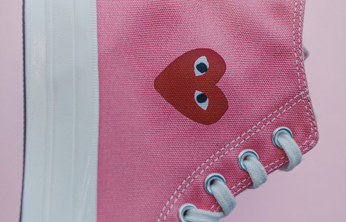 Comme des Garcons Play Converse Chuck Taylor All Star 70 High Pink 168301C 04