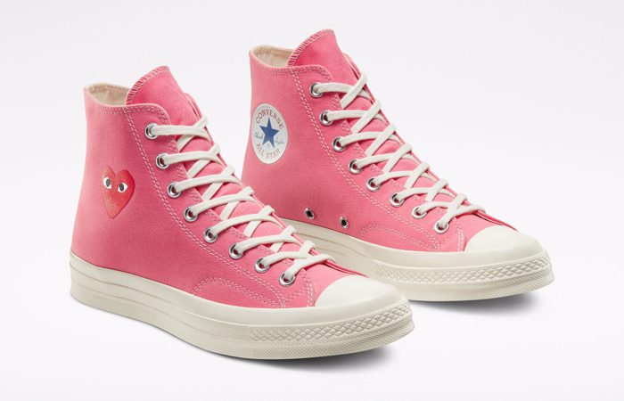 Comme des Garcons Play Converse Chuck Taylor All Star 70 High Pink 168301C 05