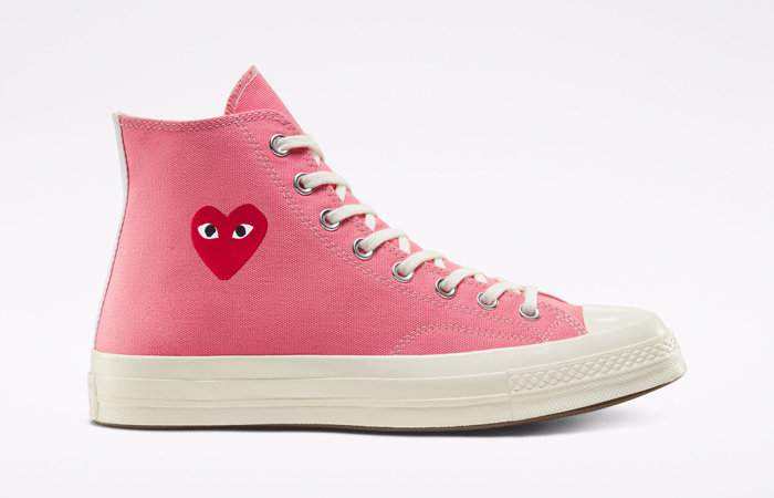 Comme des Garcons Play Converse Chuck Taylor All Star 70 High Pink 168301C 06