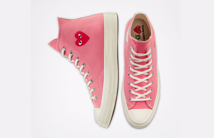Comme des Garcons Play Converse Chuck Taylor All Star 70 High Pink 168301C 07