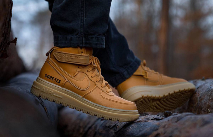 Gore-Tex Nike Air Force 1 High Wheat Brown CT2815-200 on foot 01