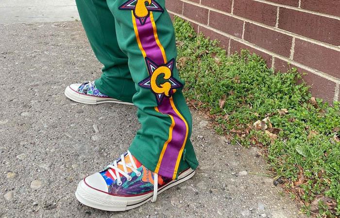 Joe Freshgoods Converse Chuck Taylor 70 Black Multi 170646C on foot 01