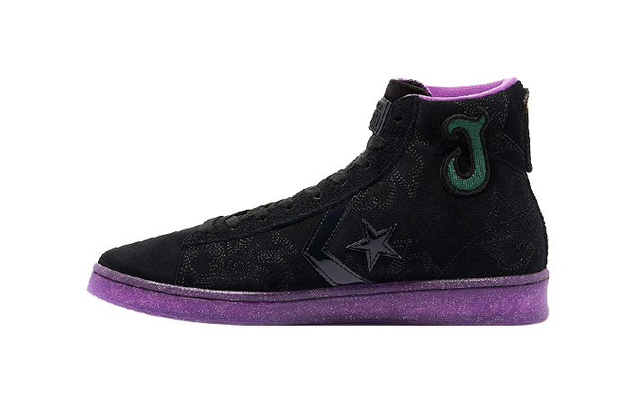 Joe Freshgoods Converse Pro Leather High Black Purple 170645C 01