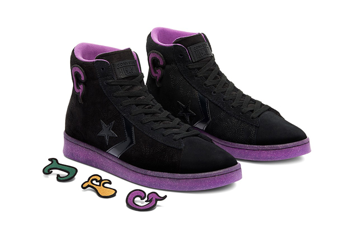 Joe Freshgoods Converse Pro Leather High Black Purple 170645C 02