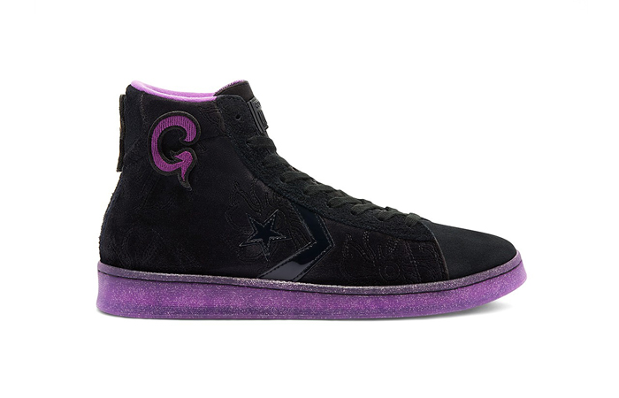 Joe Freshgoods Converse Pro Leather High Black Purple 170645C 03