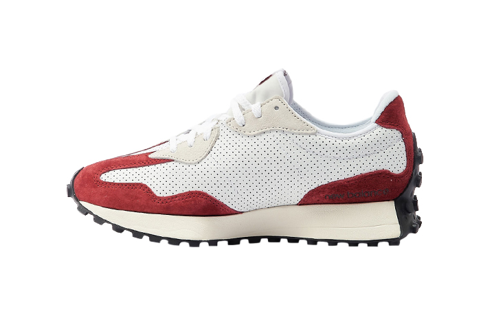 New Balance 327 Perforated Pack White Red MS327PE 01