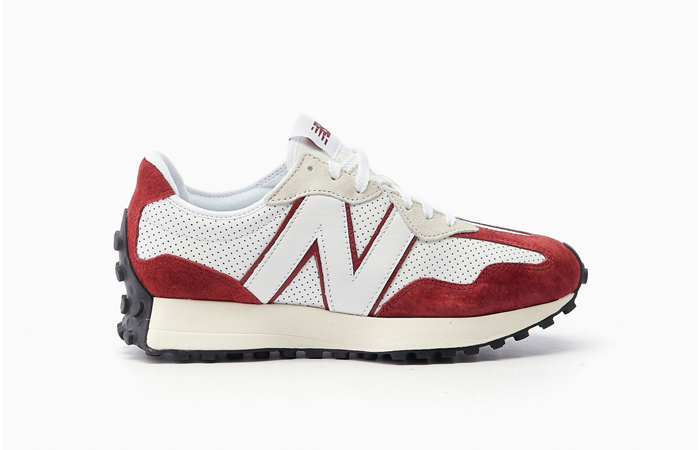 New Balance 327 Perforated Pack White Red MS327PE 03
