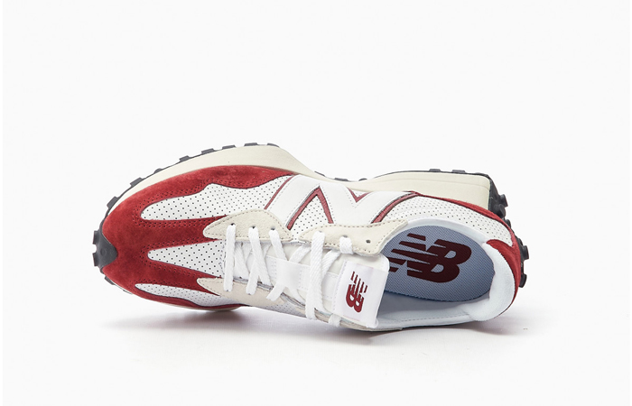 New Balance 327 Perforated Pack White Red MS327PE 04