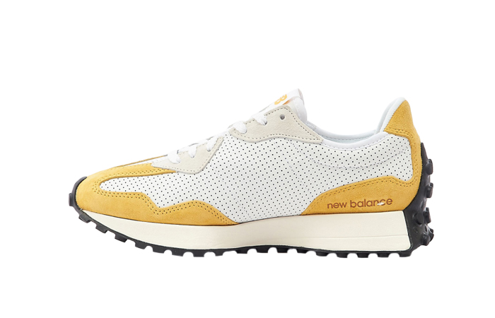New Balance 327 Perforated Pack White Yellow MS327PG 01