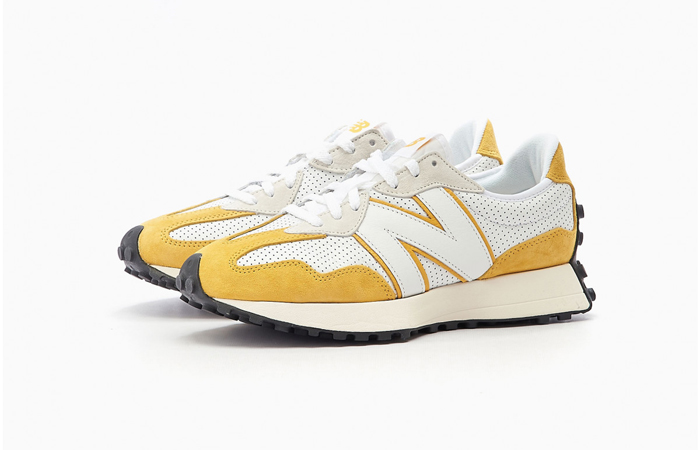 New Balance 327 Perforated Pack White Yellow MS327PG 02