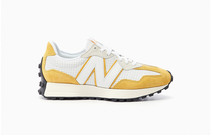 New Balance 327 Perforated Pack White Yellow MS327PG 03