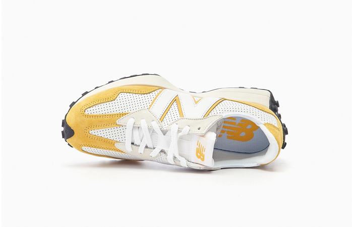 New Balance 327 Perforated Pack White Yellow MS327PG 04