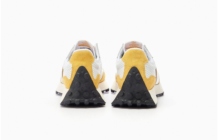 New Balance 327 Perforated Pack White Yellow MS327PG 05
