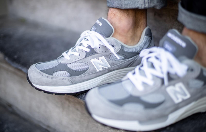 New Balance 992 Grey M992GR on foot 02