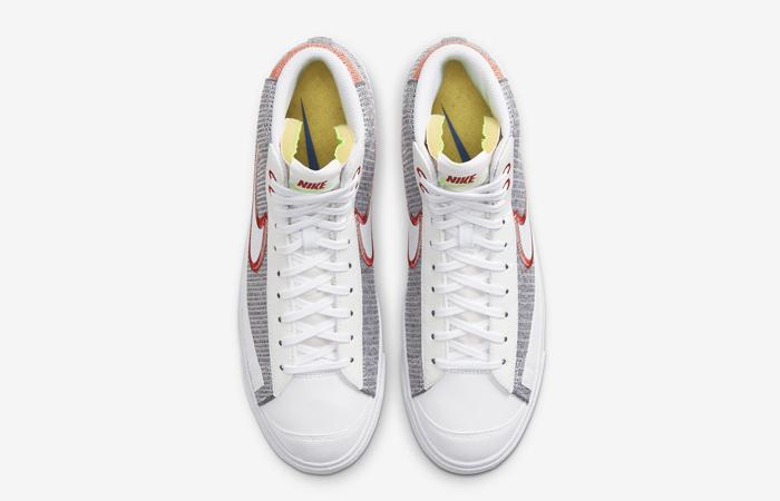 Nike Blazer Mid 77 Recycled Jerseys White Grey CW5838-022 04