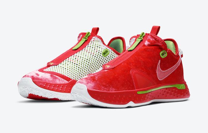 Nike PG 4 Christmas Crimson Volt White CD5079-602 02