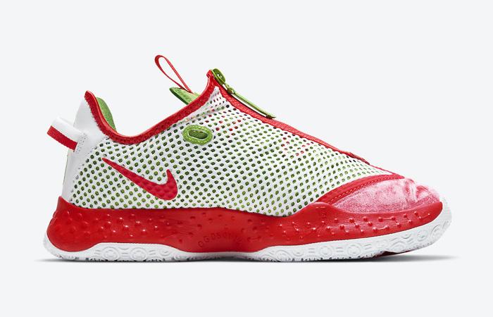 Nike PG 4 Christmas Crimson Volt White CD5079-602 03