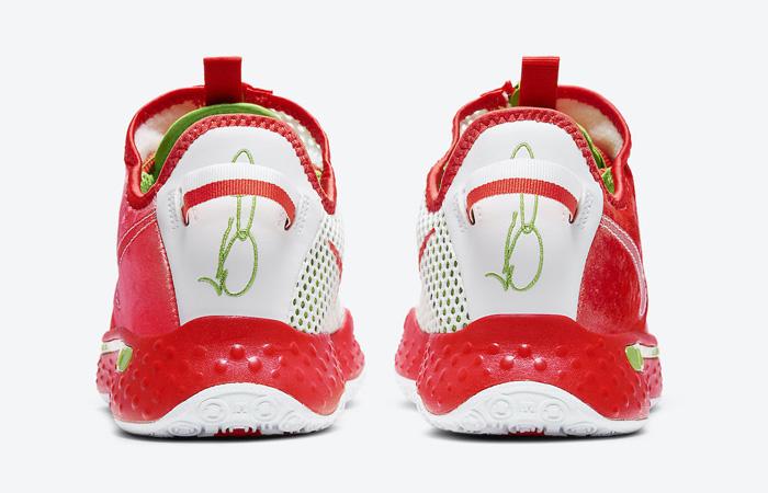 Nike PG 4 Christmas Crimson Volt White CD5079-602 05