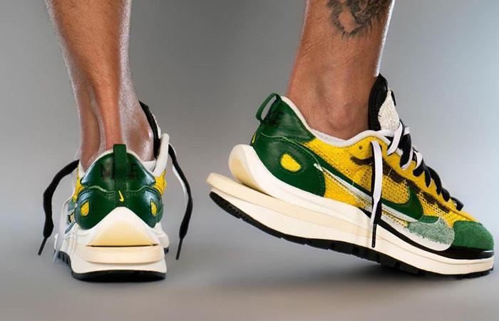 Sacai Nike Vaporwaffle Tour Yellow Gorge Green Sail CV1363-700 on foot 03