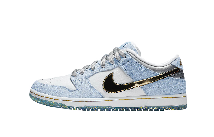 Sean Cliver Nike SB Dunk Low White Psychic Blue DC9936-100 01