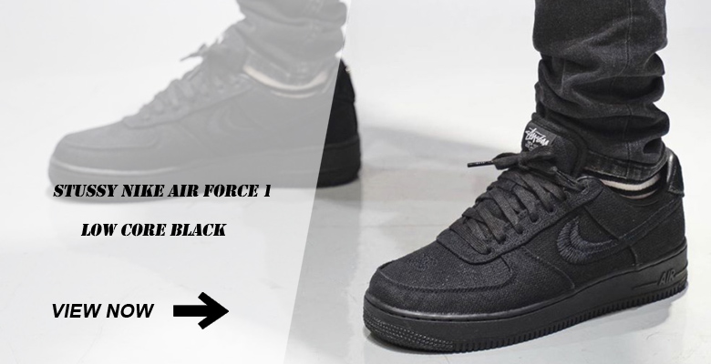 Stussy Nike Air Force 1 Low Core Black