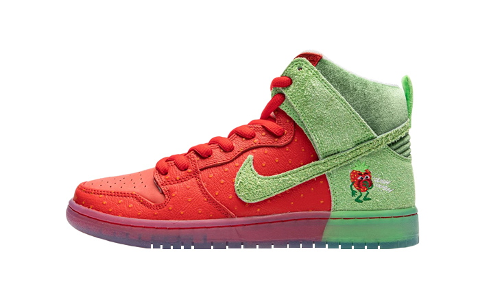 Todd Bratrud Nike SB Dunk High Strawberry Cough Red CW7093-600 01