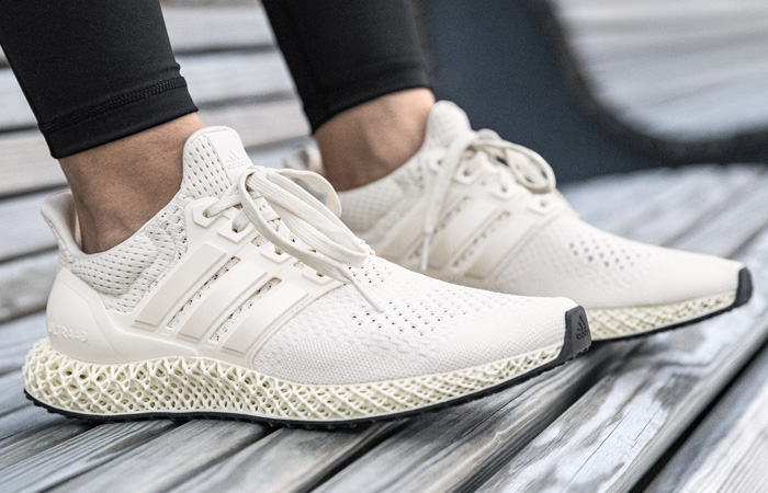 adidas Ultra 4D Chalk White FX4089 on foot 01
