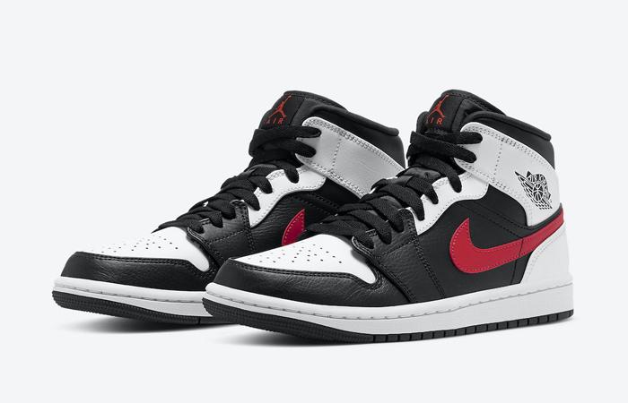Air Jordan 1 Mid Black Chile Red White 554724-075 02