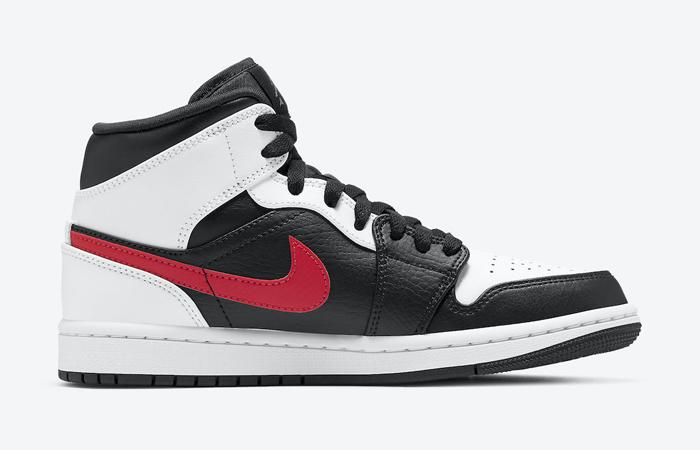 Air Jordan 1 Mid Black Chile Red White 554724-075 03