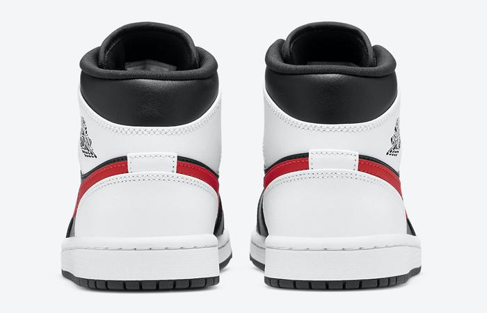 Air Jordan 1 Mid Black Chile Red White 554724-075 05