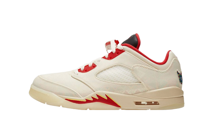 Air Jordan 5 Low Chinese New Year Pearl White Chile Red DD2240-100 01
