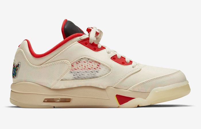 Air Jordan 5 Low Chinese New Year Pearl White Chile Red DD2240-100 03