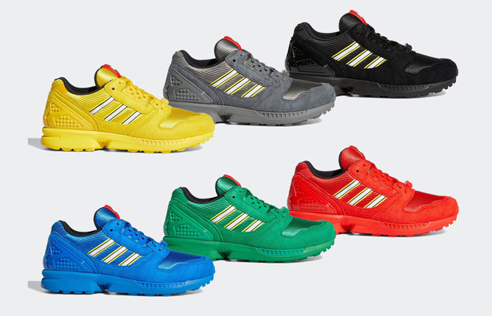 "LEGO Joins adidas For Six New ZX 8000 ""Colour Pack"" In 2021 ft"