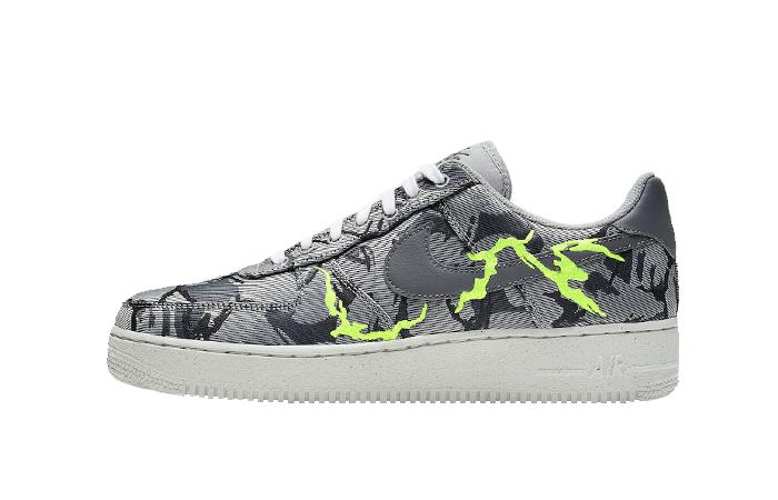 Nike Air Force 1 07 LX Smoke Grey Electric Green CV1725-001 01