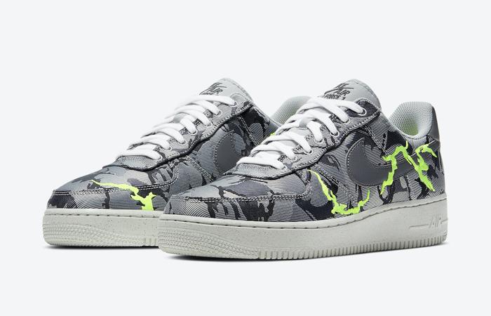 Nike Air Force 1 07 LX Smoke Grey Electric Green CV1725-001 02