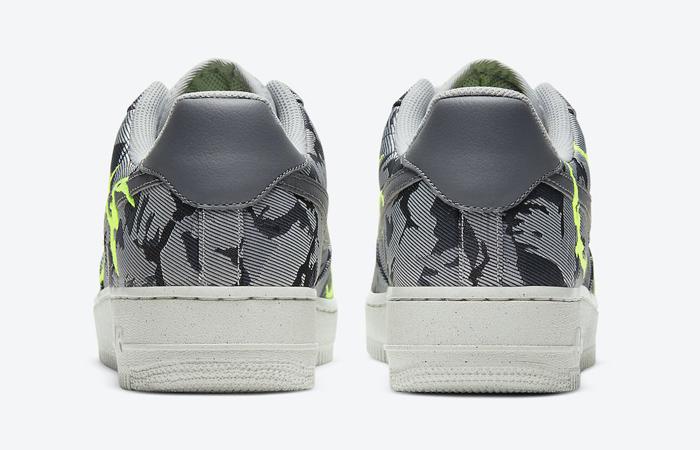 Nike Air Force 1 07 LX Smoke Grey Electric Green CV1725-001 05