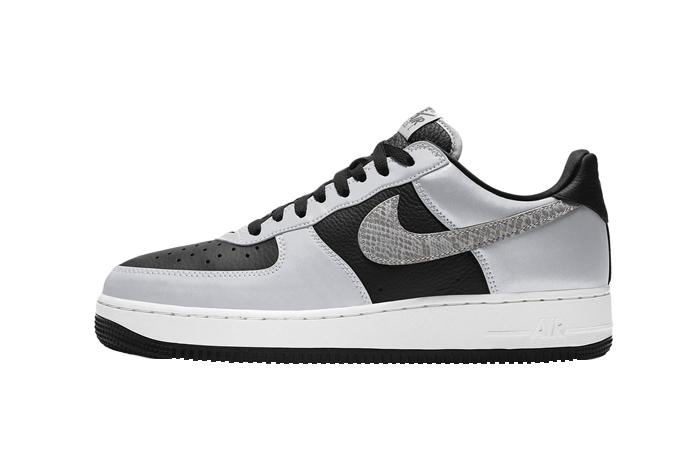 Nike Air Force 1 Low B 3M Snake Black Silver DJ6033-001 01