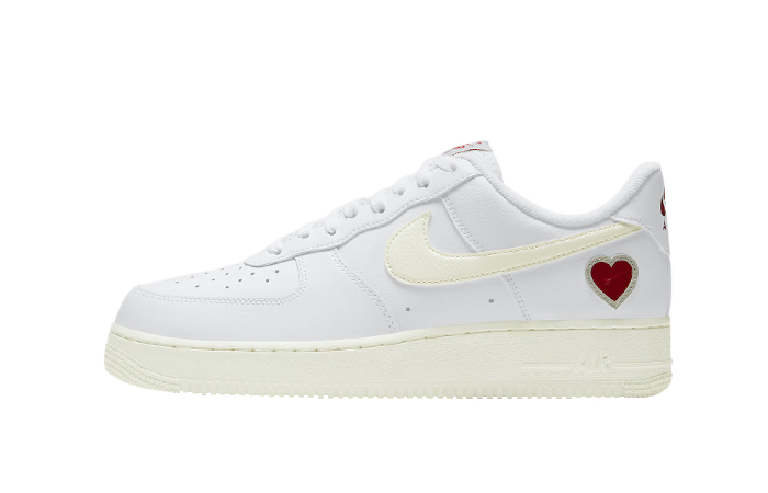 Nike Air Force 1 Low Valentines Day White Red DD7117-100 01