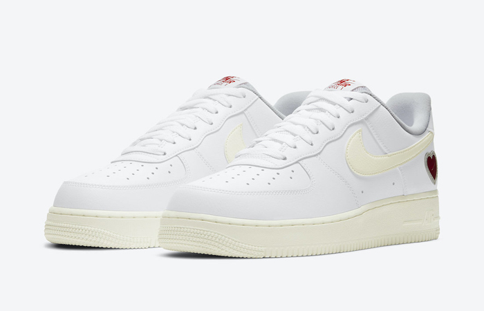 Nike Air Force 1 Low Valentines Day White Red DD7117-100 02