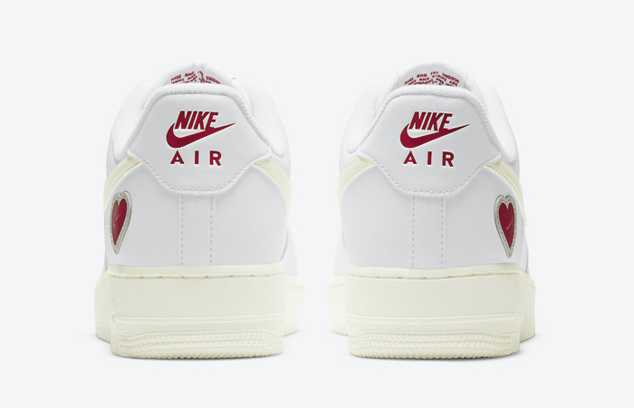Nike Air Force 1 Low Valentines Day White Red DD7117-100 05