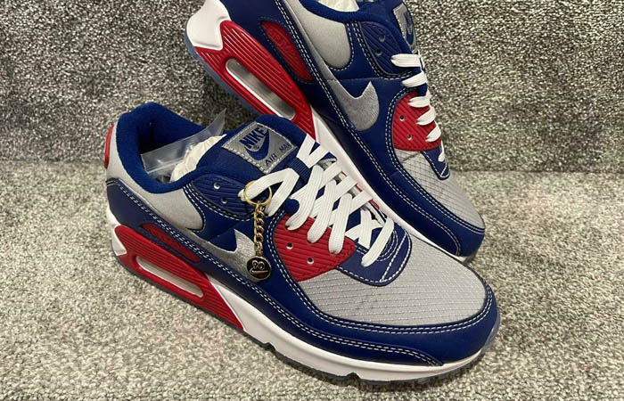 Nike Air Max 90 Pirate Radio Blue Red DD8457-400 03
