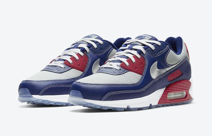 Nike Air Max 90 Pirate Radio Blue Red DD8457-400 05