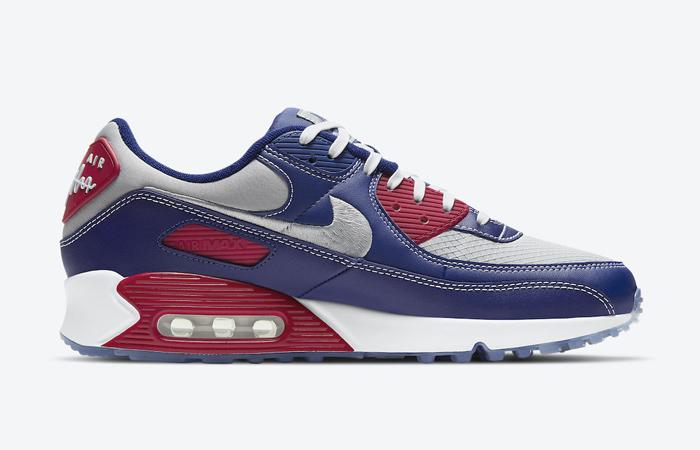 Nike Air Max 90 Pirate Radio Blue Red DD8457-400 06