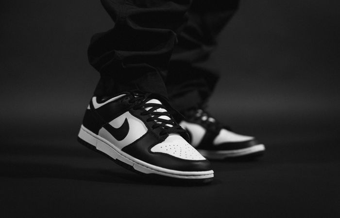 Nike Dunk Low Black White DD1391-100 on foot 01